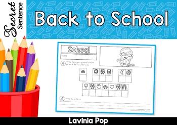 Back to School Secret Sentence