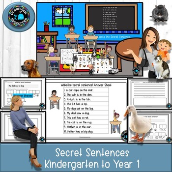 Secret Sentence and Flash Cards ideal for writing activities