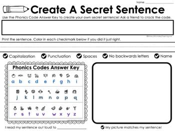 Secret Sentences 3 - Sentences with Digraphs