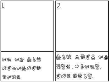 American Symbols Secret Sentences: A Writing Center Matching Game