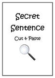 Secret Sentences Cut and Paste K-2