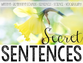 Secret Sentences: Spring Writing Center Activity