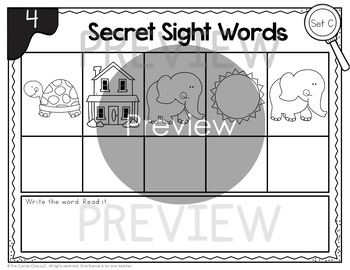 Secret Sight Word Activities: 1st Grade Word Work Mats for ELA Centers