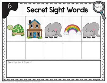 Secret Sight Word BOOM Cards™: Sight Word Spelling Practice for Centers