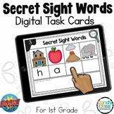 Secret Sight Words Spelling Practice: 1st Grade BOOM Cards