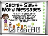 Secret Sight Word Messages