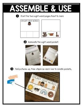 Secret Sight Word Pockets