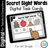 Secret Sight Word Spelling Practice: 1st Grade Digital Word Work Activities