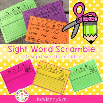 Kinderbykim's Secret Sight Word Scramble!