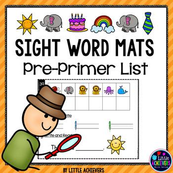 Kindergarten Sight Words Activity - Pre-Primer Secret Words