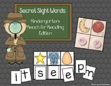Secret Sight Words: Kindergarten Reach for Reading Edition