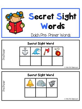 Secret Sight Words - Pre-Primer