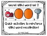 Secret Sight Words Set 2