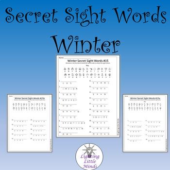 Secret Sight Words - Winter