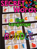 Secret Sign Language Centers BUNDLE