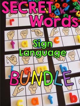 Secret Sign Language Centers BUNDLE