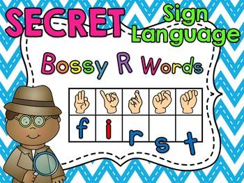 Secret Sign Language Bossy R Words