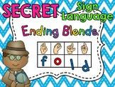 Secret Sign Language Ending Blends Words