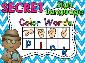 Secret Sign Language Color Words
