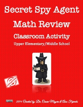 Secret Spy Math Review Activity
