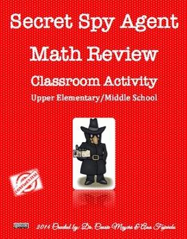 Secret Spy Math Review Activity