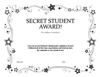 Secret Student Award