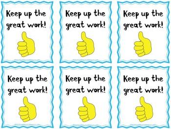 Secret Student Compliment Cards