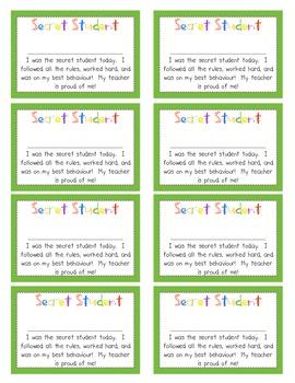 """""""Secret Student"""" Forms (UK, Aussie, Canadian ~Behaviour Version)"""