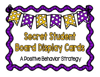 Positive Behavior Strategy: Secret Student