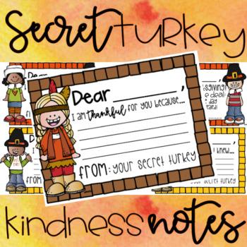 Secret Turkey Kindess Notes