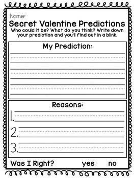 Secret Valentine Listening Game and Activities