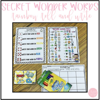 Secret Wonder Words and Rainbow Roll and Write
