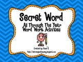 Secret Word All Through the Year