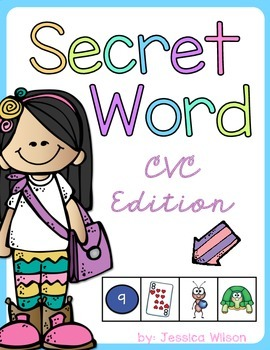 Secret Word Book - CVC Edition
