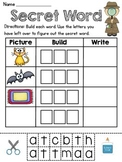 Free Short A Secret Word Literacy Centers
