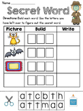 Secret Word Literacy Stations (21 CVC Word Families Word W