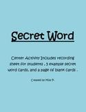 Secret Word: Center Activity