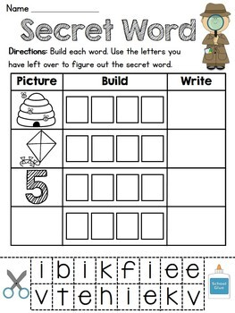 Secret Words Literacy Station (43 fun word work centers for the entire year!)