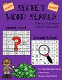 Secret Word Search (Fry's 1st 100 Sight Words + Color Words + Number Words 0-10)