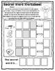 CVC Secret Word Worksheet Pack