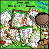 Write the Room Kindergarten | Write the Room First Grade Secret Words BUNDLE