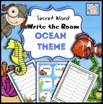 Secret Word Write the Room: Ocean Theme