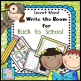 Secret Word Write the Room for Back to School