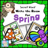 Spring Activities Kindergarten 1st Write the Room Secret Words Spring Center