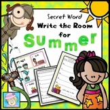 Summer Write the Room Kindergarten | Write the Room First Grade Secret Words