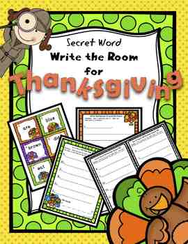 Secret Word Write the Room for Thanksgiving