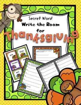 Write the Room Kindergarten   Write the Room First Grade Thanksgiving