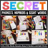 Phonics Activities First Grade Literacy Centers - Secret Words BUNDLE
