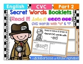 """Secret Words Booklets { CVC with """"e"""" and """"i"""" }"""