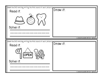 "Secret Words Booklets { CVC with ""o"" and ""u"" }"
